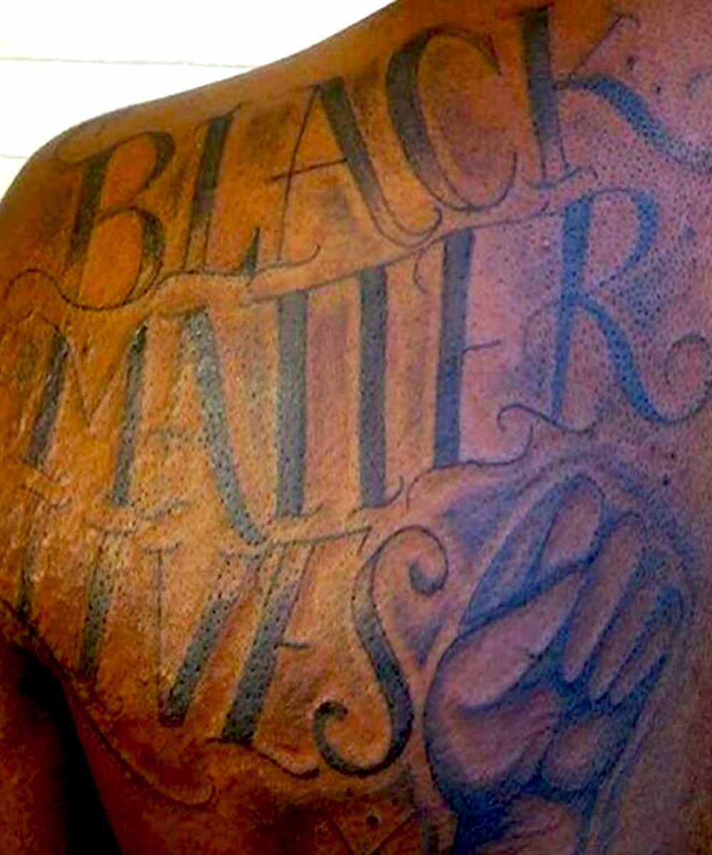 #BLM tattoo Black lives matter