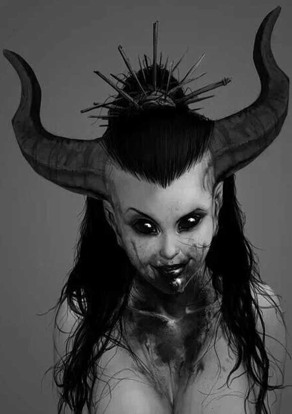 Девочка демон прикольные картинки