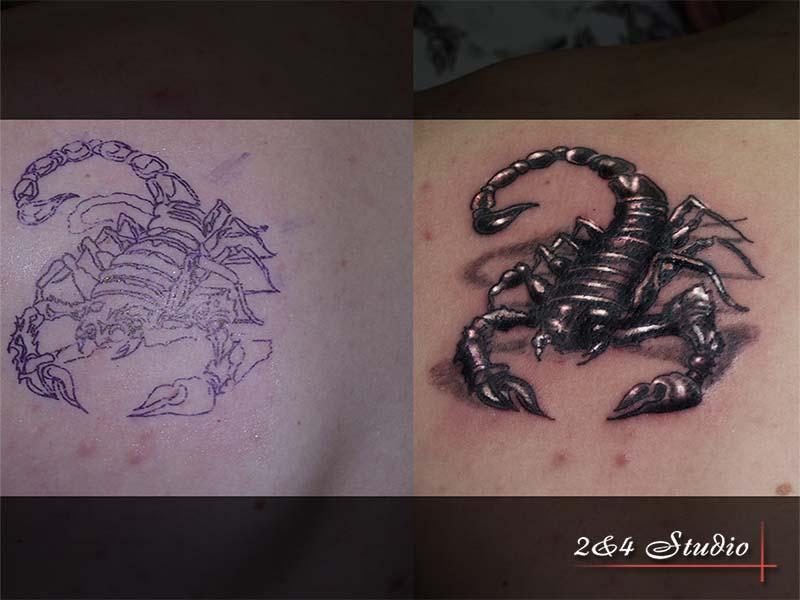 В большинстве случаев татуировки скорпионов это сильные амулеты и талисманы - они защищают людей от злых духов, так как скорпионы способны напугать и вызывают уважение любого, кто с ними сталкивается.